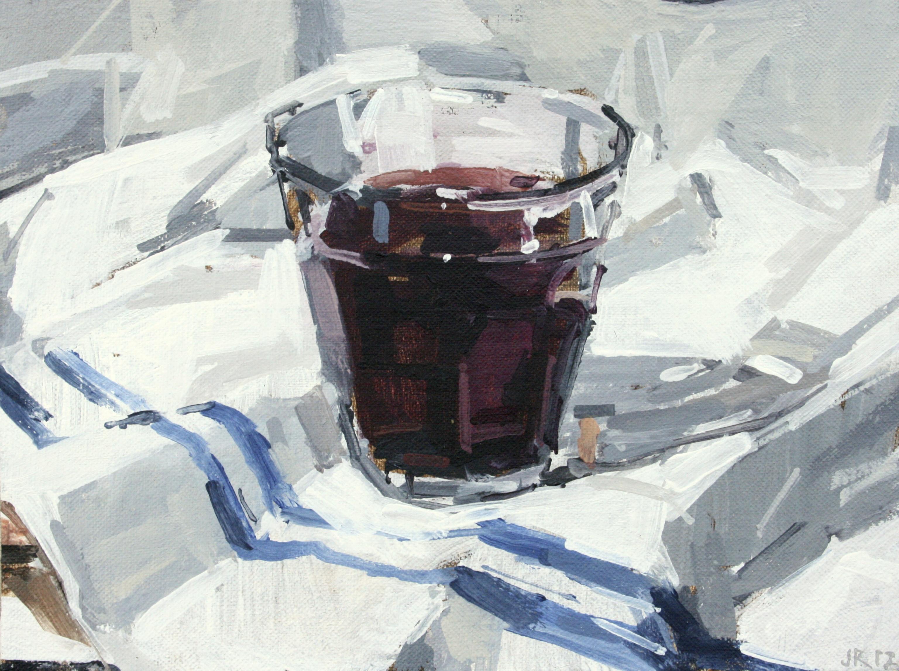 joseph ryan artist painter still life wine glass