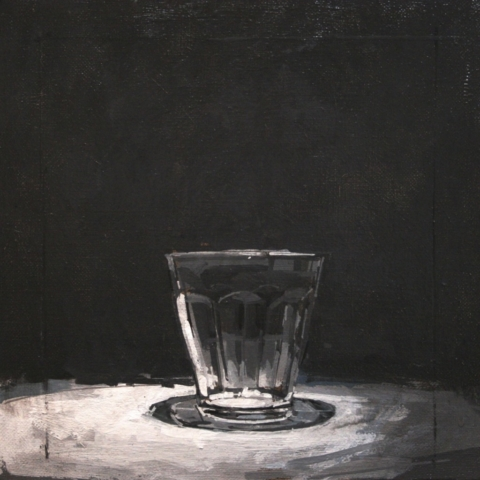 joseph ryan artist painter painting still life glass grisaille