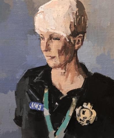 charly joseph ryan artist portrait painting art nhs